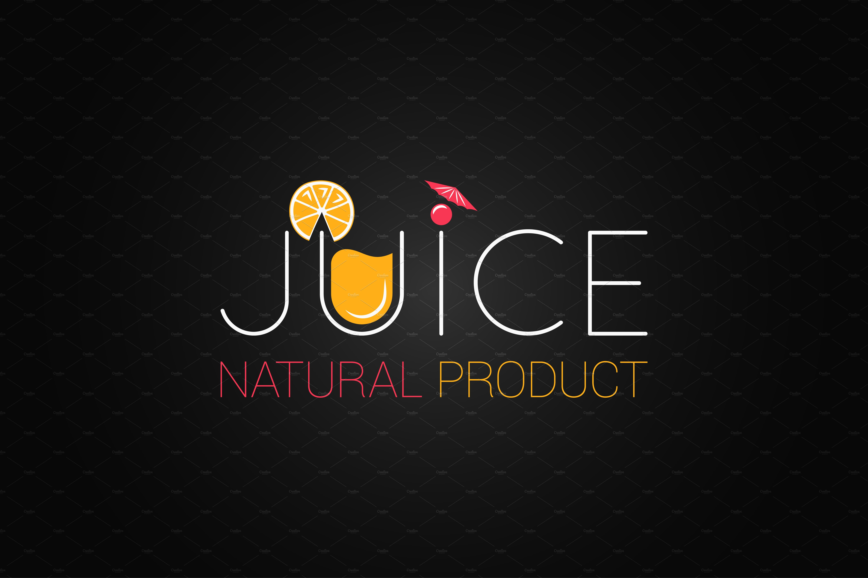 Juice Logo Design Background Illustrations Creative Market