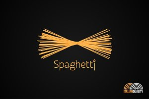 Spaghetti pasta logo design