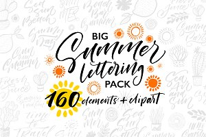 Big Summer Lettering Pack.