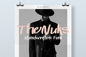 Nuks Handwritten Font Script Brush