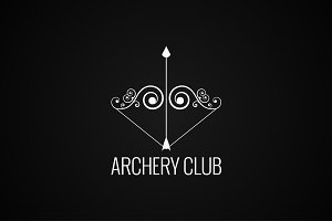 archery bow and arrow logo
