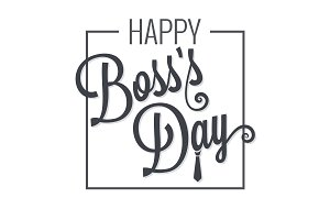boss day logo lettering
