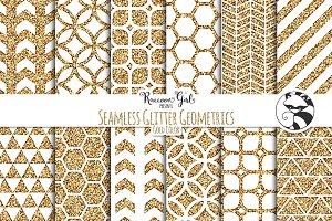 Seamless Glitter Geometrics Gold