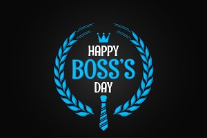 boss day logo sign design background
