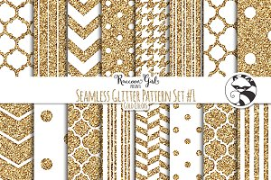 Seamless Glitter Patterns #1 Gold