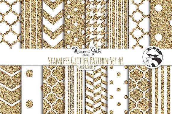 Seamless Glitter Patterns #1 Gold
