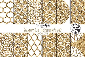 Seamless Glitter Patterns #2 Gold