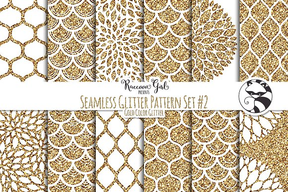 Seamless Glitter Patterns 40 Gold Textures Creative Market Fascinating Glitter Pattern