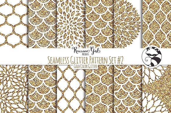 Seamless Glitter Patterns #2 Gold in Patterns