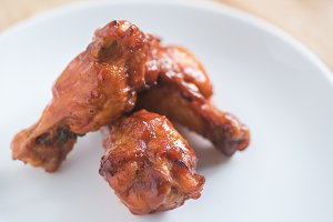 spicy BBQ chicken wing