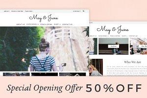 May&June. MinimalTheme | PageBuilder
