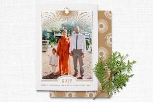 Religious Art Deco Christmas Card