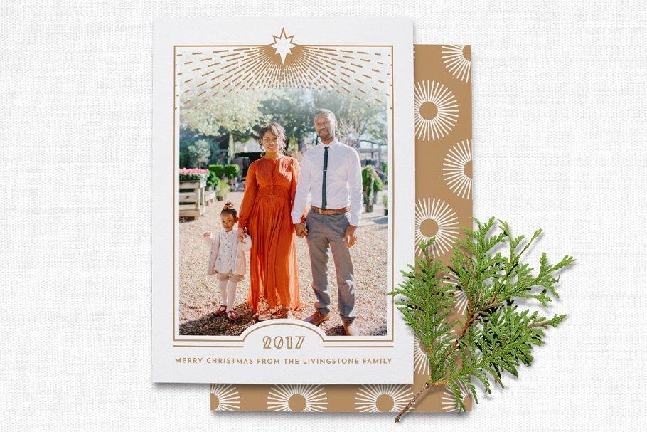 Religious Art Deco Christmas Card Card Templates Creative Market