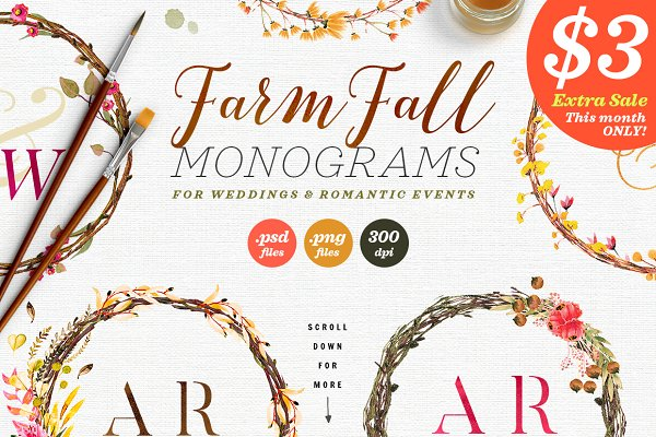 8 Farm Fall Wedding Monograms VIII