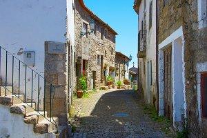Portugal empty street in Monsanto