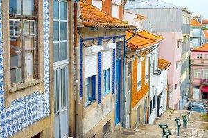 Typical empty Porto street