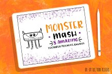 Monster Textured Procreate Brushes