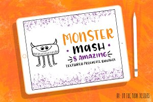 Monster Textured Procreate Brushes
