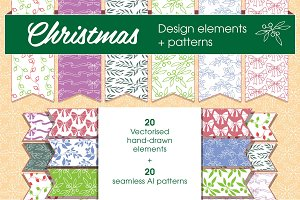 Christmas patterns & elements
