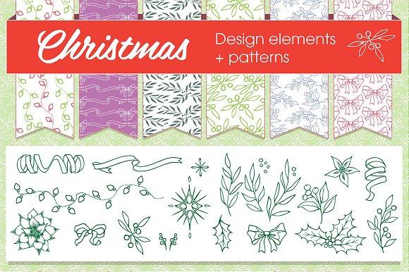 Christmas patterns & elements