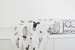 Nursery Swaddle Stock Photo