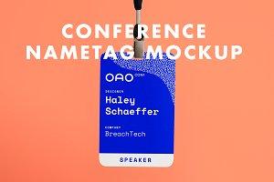 Conference Name Tag Mockup