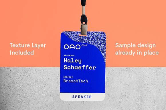 conference name tag mockup product mockups creative market