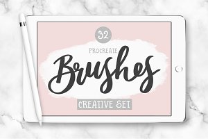 32 Procreate Brushes - Creative Set