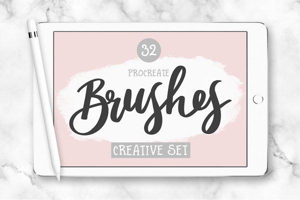 32 Procreate Brushes - Creative Set