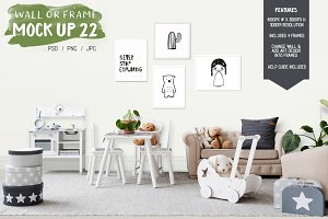 Kids Room Wall/Frame Mock Up 22