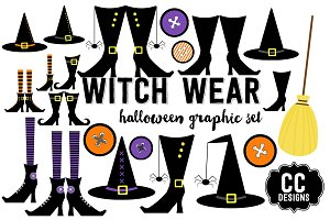 Witch Wear Halloween Graphics