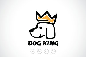 Dog King Logo Template