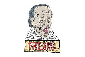 Zombie Freaks Cobwebs Drawing
