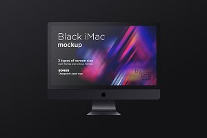 Black iMac Pro MockUp