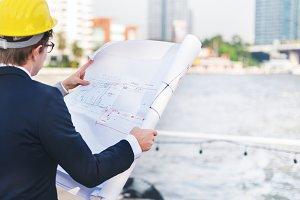 Businessman planning for start up