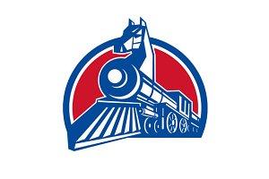 Iron Horse Locomotive Circle Retro