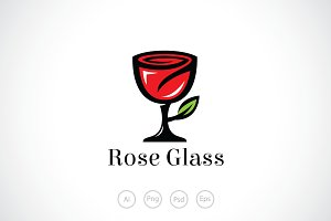 Rose Glass Logo Template