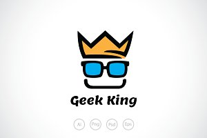 Geek King Logo Template