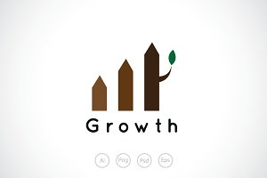 Growing Fence Logo Template