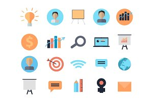 Set of Icons of Time Management Digital Devices