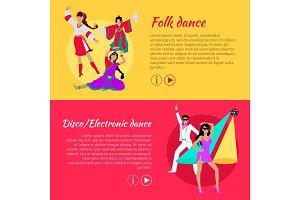 Folk and Disco or Electronic Dance Web Banner