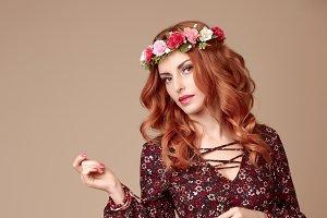 Fashion autumn Beauty Lady