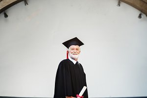 Grads at graduation ceremony