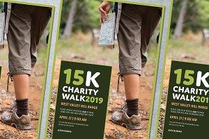 Charity Walk Poster Mockup