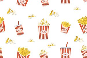 Fast food pattern + 4 pattern
