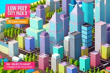 Low Poly City Pack 3 by  in Architecture
