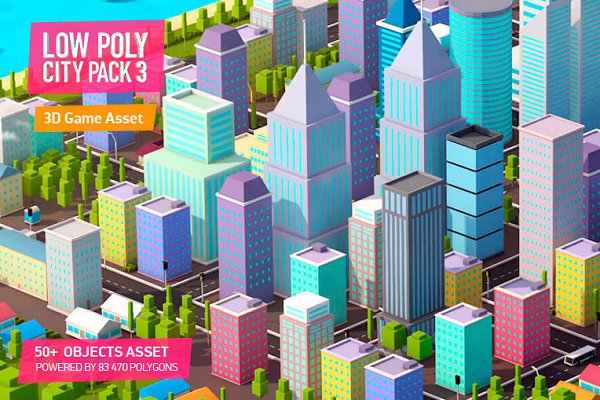 3D Architecture: Anton Moek - Low Poly City Pack 3