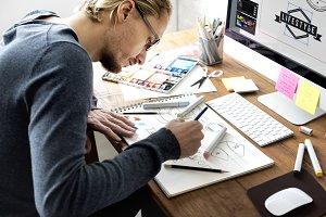 Man Designer working