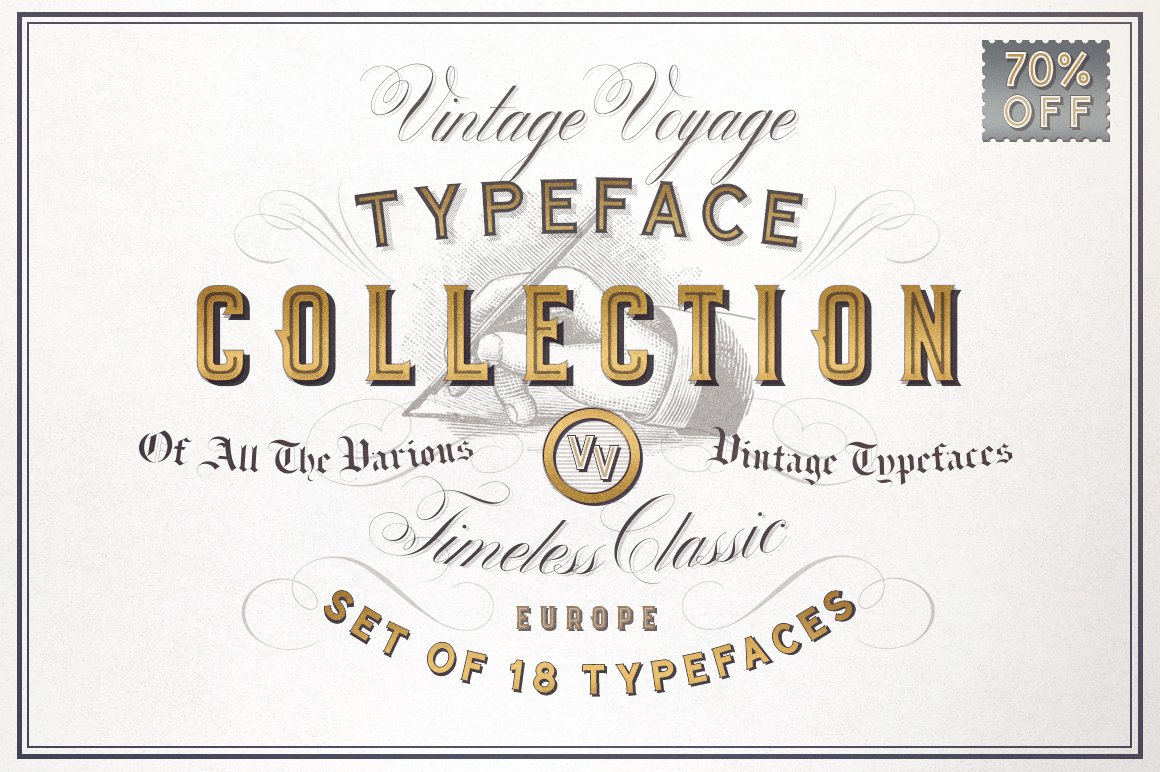Vv Typeface Collection 70 Off Display Fonts Creative Market