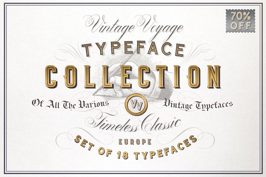 6743174cdaa VV Typeface Collection • 70% Off ~ Display Fonts ~ Creative Market